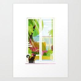 Suburban Jungle Art Print