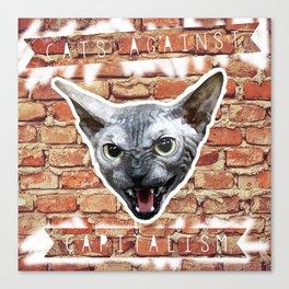 Cats Against Capitalism Canvas Print