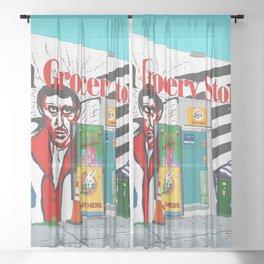 A Shop in Miami Wynwood Sheer Curtain