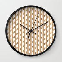 chocolate Wall Clocks featuring Chocolate by HK Chik