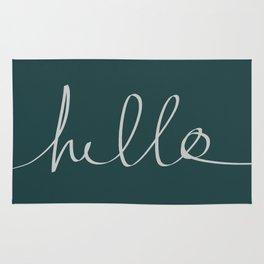 Hello x Dark Turquoise Rug