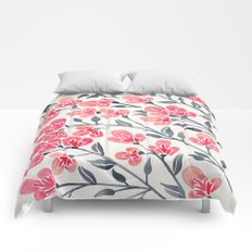 Cherry Blossoms – Pink & Black Palette Comforters