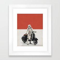 Vespa Troooper Framed Art Print