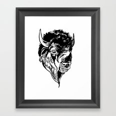 buffalo face Framed Art Print