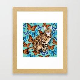 layla butterflies Framed Art Print