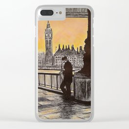 Saxophone Player, London South Bank Clear iPhone Case