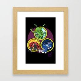 Weather Trio Framed Art Print