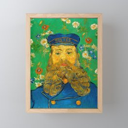 Vincent van Gogh - Portrait of Postman Framed Mini Art Print
