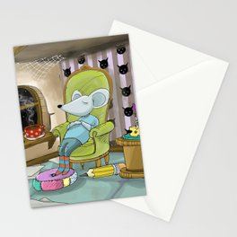 The mousetrap Stationery Cards