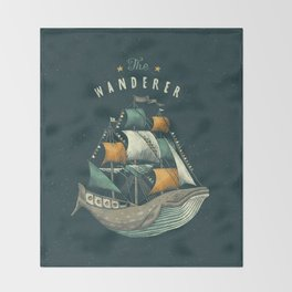 Whale | Petrol Grey Throw Blanket