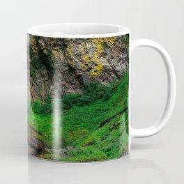 Image USA Oregon Elowah Falls Cliff Nature Bridges Waterfalls Moss Rock Crag bridge Coffee Mug