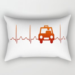 TAXI DRIVER HEARTBEAT Rectangular Pillow