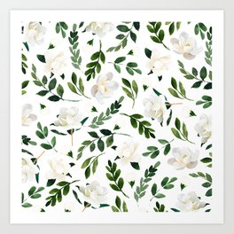 Magnolia Tree Art Print