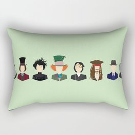 Johnny Depp Character Print Rectangular Pillow