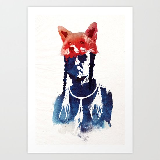 Bloody days are coming Art Print
