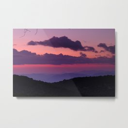 Purple sunset at the mountains... Metal Print