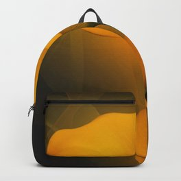 Calla Lily Warm Yellow Mist Background Backpack