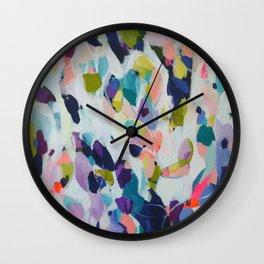 Lavendar and Peach Wall Clock