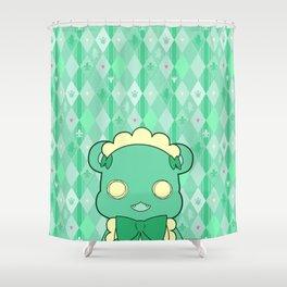 Monochromatic Kuma Lulu Shower Curtain
