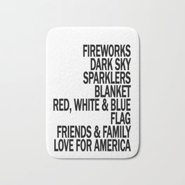 Components of a Fantastic 4th of July - Happy Independence Day! Bath Mat