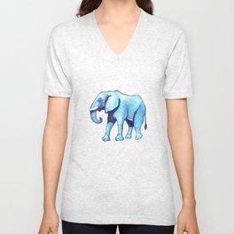 Elefante Blu Unisex V-Neck