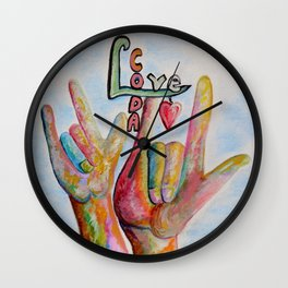 CODA - Children of Deaf Adults Wall Clock