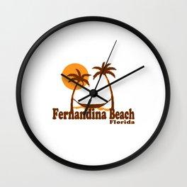 Fernandina Beach - Florida. Wall Clock