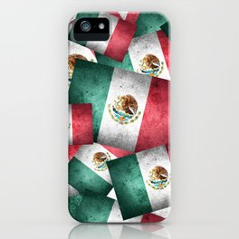 Grunge-Style Mexican Flag iPhone Case