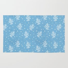 I don't know let it snow Xmas pattern Rug