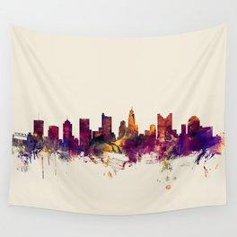 Columbus Ohio Skyline Wall Tapestry