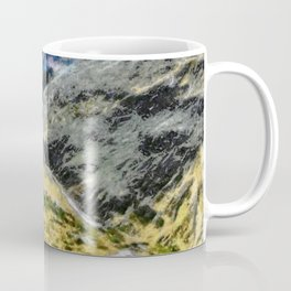 The top of Ben Nevis, Scotland, is shaded by clouds. Coffee Mug