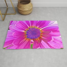 Neon Pink Daisy Rug
