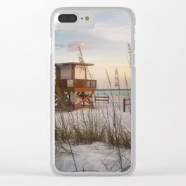 Life Guard at Sunset Clear iPhone Case