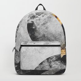 One mountain at a time - Black and white Backpack
