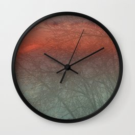 Sunset overlay Wall Clock