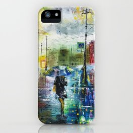 laportrayal A Monday Evening Handmade Oil Painting Customisations iPhone Case