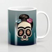 frida Mugs featuring Frida by mangulica