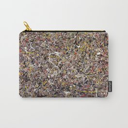 Intergalactic - Jackson Pollock style abstract painting by Rasko Carry-All Pouch