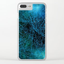 System Network Connection Clear iPhone Case
