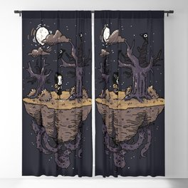 Dark Wood Blackout Curtain