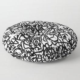 Graffiti Pattern | Street Art Urban Graphic Floor Pillow