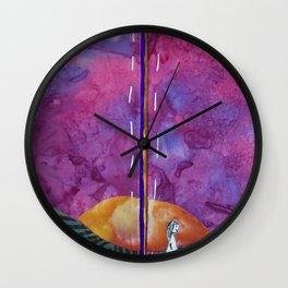 Walking through sunset Wall Clock