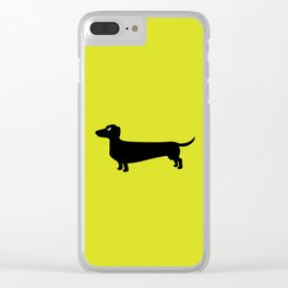 Angry Animals: Dachshund Clear iPhone Case
