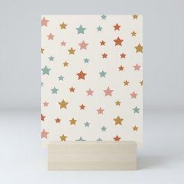 Star Pattern - Vintage Rainbow Mini Art Print
