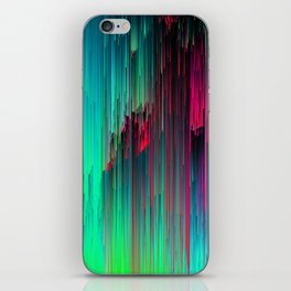 Just Chillin' - Abstract Neon Glitch Pixel Art iPhone Skin