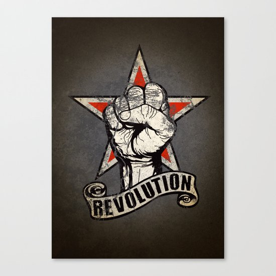 Up The Revolution! Canvas Print