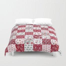 Alabama bama crimson tide quilt pattern florals football varsity alumni Duvet Cover