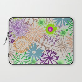 Drawn Flowers Laptop Sleeve