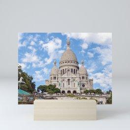 Sacre Coeur Basilica and Carrousel Mini Art Print