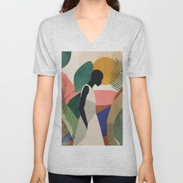 Tropical Girl Unisex V-Neck